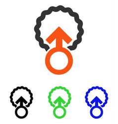 Ovum penetration flat icon vector