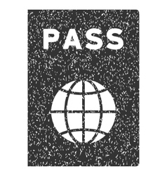 Passport icon rubber stamp vector