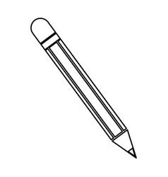 pencil utensil school write wooden line vector image vector image