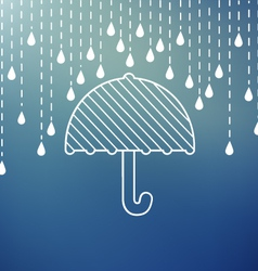 Raining on a umbrella vector image