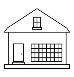 Small rural house icon outline style vector