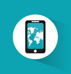 smartphone travel application map vector image vector image