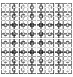 square lines isolated on a white background vector image vector image