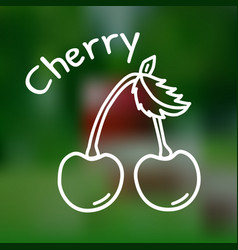thin line cherry icon vector image vector image