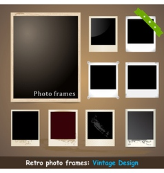 Vintage Photo Frame Design Template vector image vector image