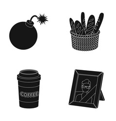 War food and or web icon in black styledrink vector