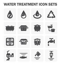 Water treatment vector image vector image