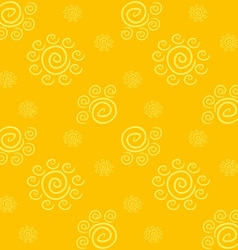 Yellow Solar Pattern vector image