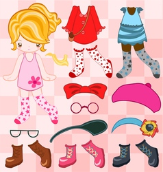 Dress up cute look vector