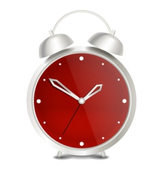 Steel modern alarm clock vector