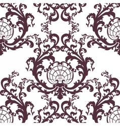 Floral baroque rococo ornament pattern vector