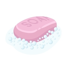 Soap icon in cartoon style isolated on white vector image