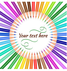 Pencils with text vector
