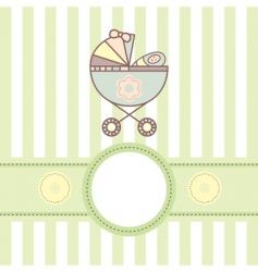 Baby card with cradle vector