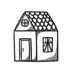 Home symbol vector image