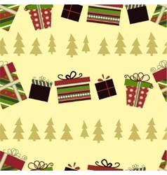 Retro christmas gift boxes vector