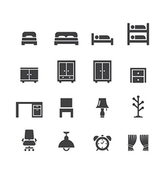 Bed room icon vector