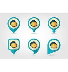Kiwi mapping pins icons vector