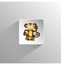 Cute colored monkey icon vector