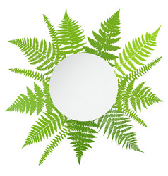 Jungle poster fern frond background vector