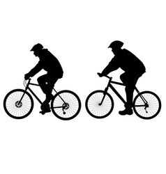 Bicycle riders vs vector