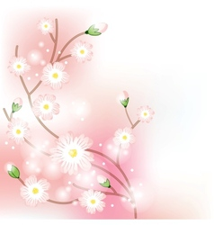 Tree blossom brunch vector