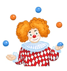 A juggling clown vector