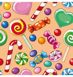 Seamless pattern candies vector
