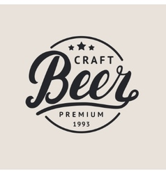 Beer logo lettering for logotype label badge and vector