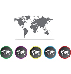 Global map icons vector image