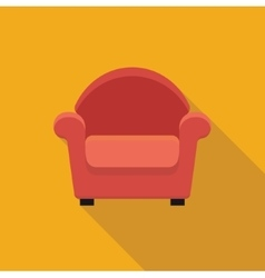 Armchair stylized icon vector