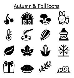 Autumn fall winter icon set vector