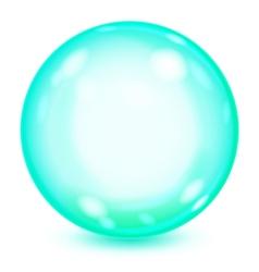Big turquoise opaque glass sphere vector