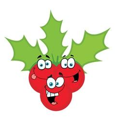 Christmas Holly Cartoon vector image vector image