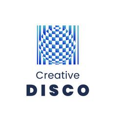 creative disco logo template modern element for vector image vector image