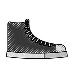 cute scribble boot cartoon vector image vector image