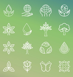 ecology and organic icons vector image vector image