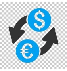 Euro dollar exchange icon vector