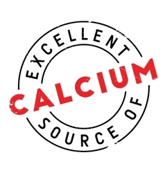 Excellent source of calcium stamp vector image