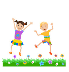 featuring dancing kids vector image