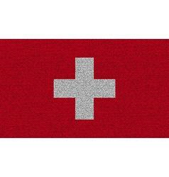 Flags switzerland on denim texture vector