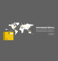 Flat logistics concept of shipping and delivery vector