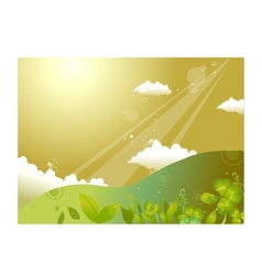 Hill landscape background vector