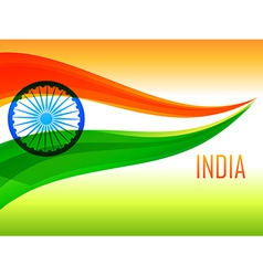 Indian flag made with tricolor wave vector