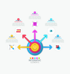 Infographic design layout with central circular vector