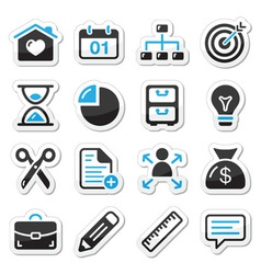 Internet web icons as labels vector image