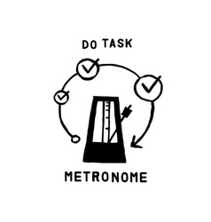 metronome icon vector image vector image