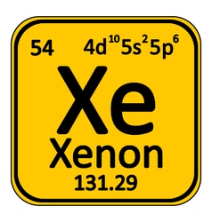 Periodic table element xenon icon vector image vector image