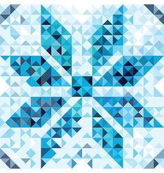 Seamless pattern of geometric snowflake vector image