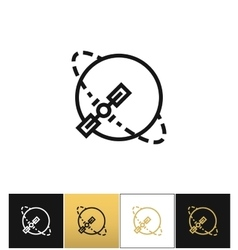 Silhouette navigation earth broadcast icon vector image